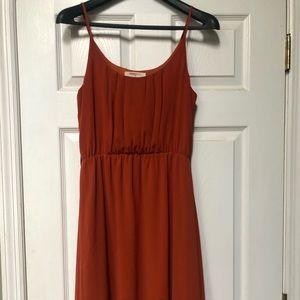 Spaghetti strap A-symmetrical summer dress
